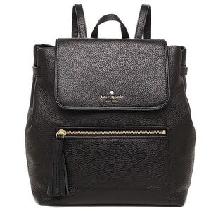 Black Kate Spade Leather Backpack